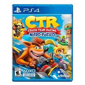 Película Crash Team Racing Nitro PS4. Nuevo sellado.