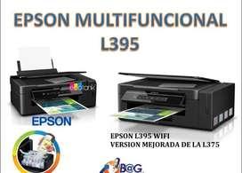MULTIFUNCIONAL EPSON ECOTANK L395 SISTEMA CONTINUO DE FABRICA WIFI