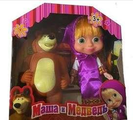 masha y el oso juguete