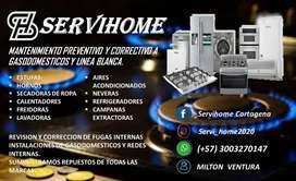 Servicio técnico especializado en gasodomesticos y línea blanca
