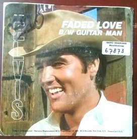 "3LVIS PRESLEY FADED LOVE B/W GUITAR MAN RCA RECS. SINGLE RADIO NEDERLAND 8"" 45rpm 1981"