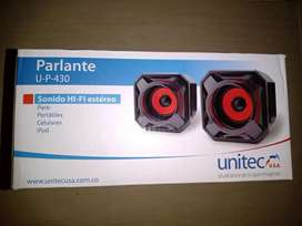Parlantes potentes USB plug 3.5 PC Teléfono Up-430 - Unitec