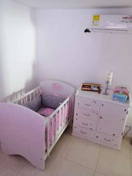 Cuna y ropero para bebe