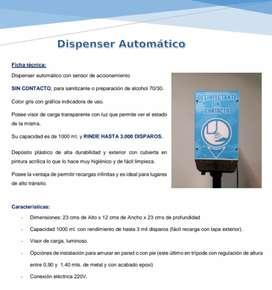 Dispenser  automático desinfecta sin contacto