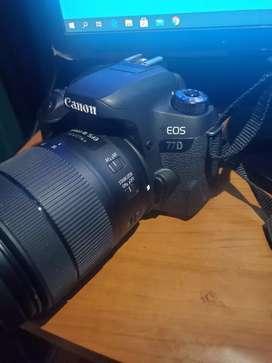Eos 77d cañón lente 18-135