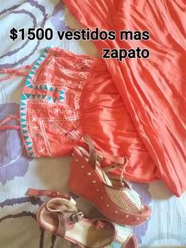 Hermoso vestido y zapato n36,37