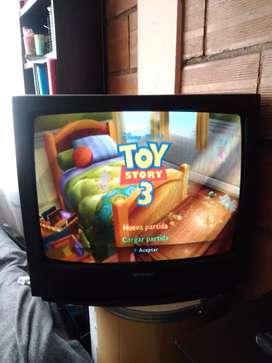 (negociables) Televisor, antiguo, en perfecto estado y colores + control