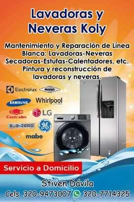 Tecnico de lavadoras neveras secadoras estufas mantenimiento de las mismas trabajos grantizados