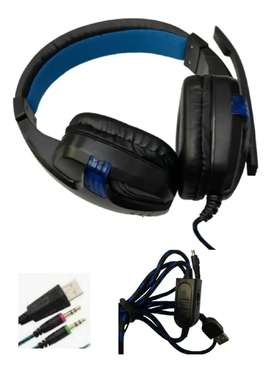Diadema Gamer Usb Plug 3.5mm Ps4 /pc Hy-860mv