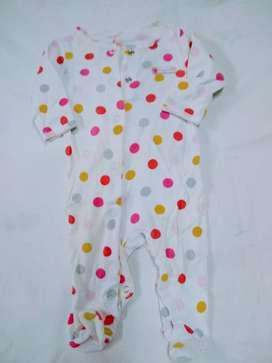 pijama enterito carters 3meses  piecito lunares hermoso