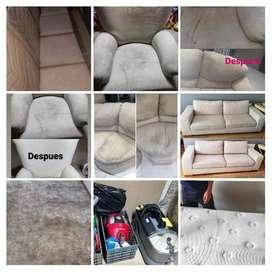 Limpieza de tapizados en general a domicilio