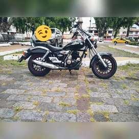 Se vende hermosa motocicleta color negro Ranger 200 go tipo pandillera año 2019
