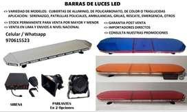 BARRAS LED DE SERENAZGO, DE AMBULANCIA, GRUAS, EMERGENCIA