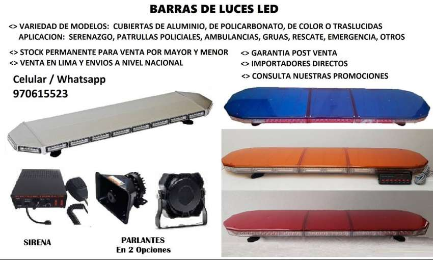 BARRAS LED DE SERENAZGO, DE AMBULANCIA, GRUAS, EMERGENCIA 0