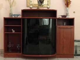 Mueble para tv/ dvd y home theater y equipo de musica