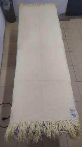 Chal Vicuña blanco original artesanal 170x65cm