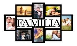 PORTARETRATO MULTIPLE FAMILIA 8 FOTOS