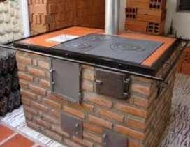 Asadores BBQ y estufas en ladrillo