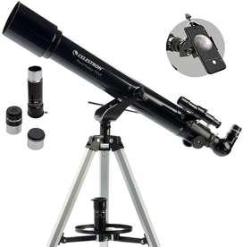 Telescopio Celestron Powerseeker 70AZ + Soporte Celular