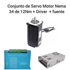 Kit de Servomotor Nema 34 de 12 Nm
