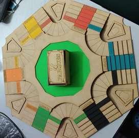 Juego de mesa tablero de parques 3D + Domino en madera