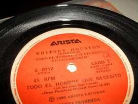Vinilos simples de Whitney Houston