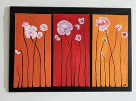 Triptrico de flores