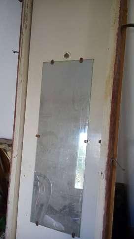 Puerta placard con marco y vidrio1300