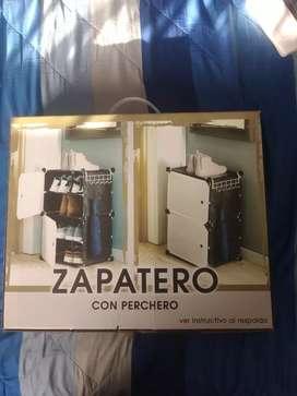 Zapatero 2 niveles 8 pares de zapatos