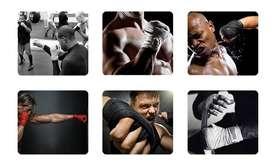 Par De Vendas Algodón 4mts Camufladas Box Artes Marciales Kickboxing