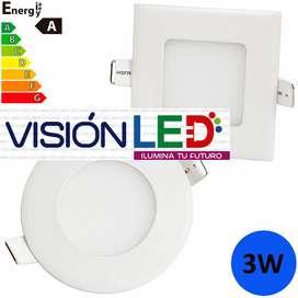 Lámpara Led Panel 3w 6w 12w 18w 24w Luces Gypsum Empotrable