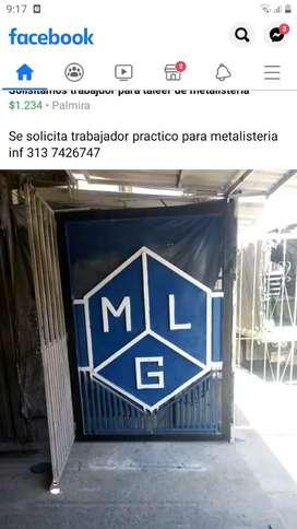 Solicitamos trabajador para taller de metalusteria