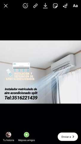 Instalador matriculado de aire acondicionado split