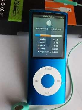 IPod nano cuarta generación 8 gigas desgaste en la pantalla música vídeo fotos con cargador y cable estado 7 de 10