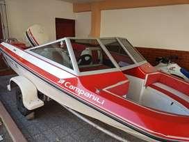 Lancha campanili ventura motor Johnson 115. Con remos y skies profecionales. Trailer incluido