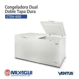 Congelador dual doble tapa dura Ventus CTVD-600 de 567 litros NUEVA freezer horizontal conservadora