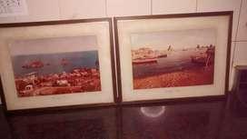 Dos cuadros con fotos originales de Sicilia