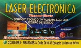 Reparación de televisores PLASMA LCD LED y Equipos de sonido