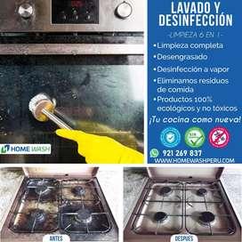Limpieza y Mantenimiento de Cocinas, Refrigeradoras, Lavadoras, Campanas, etc.