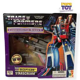 Transformers G1 STARSCREAM Conmemorativo Series II