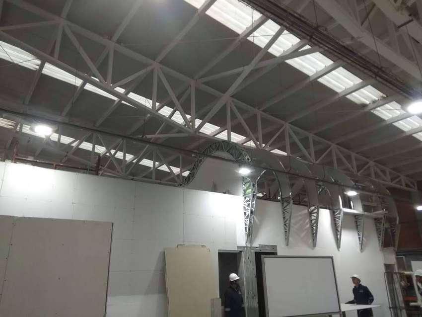 construcciones en drywall , paredes tipo 3d , porcelanato liquido 0