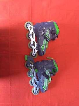 patines de linea con 4 tallas de expansión 35-38 color gris