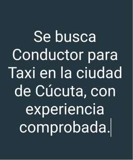 Se Busca conductor para Taxi en Cúcuta