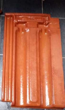 Tejas estilo francés esmaltadas 42x25 cms