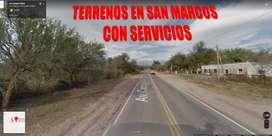 Terreno en San Marcos Sierras con servicios