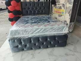 Cama base capitoneada más colchón paraiso anti ácaros