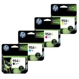 Combo Cartucho de Tintas HP 954 XL Negro, Amarillo, Magenta y Cian
