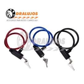 1 Cable Guaya De Seguridad Con Llave Moto/carro/bicicleta SKU: GUAL01