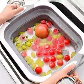Tabla de cortar plegable lavado portátil de verduras