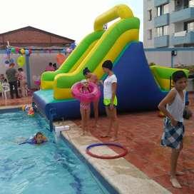 inflables para piscina, piscinadas recreaciones, atracciones con agua.